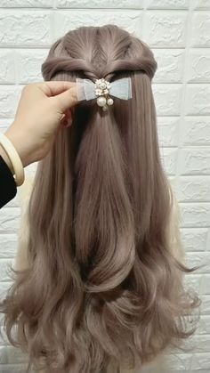 Kawaii Hairstyles, Easy Hairstyles For Long Hair, Braids For Long Hair, Pretty Hairstyles, Girl Hairstyles, Braided Hairstyles, Straight Hairstyles For Long Hair, Front Hair Styles, Medium Hair Styles