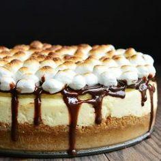 Smores Cheesecake Recipe, Some Mores Recipe, Eggnog Cheesecake, Peppermint Cheesecake, Christmas Cheesecake, Macaroni Salad, Salmon Recipes, Shrimp Recipes, Chicken Recipes