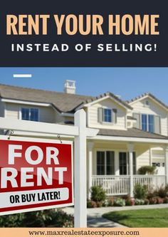 What Are The Other Choices You Have When Your Home Just Won't Sell? Renting Your Home Instead of Selling is a Possibility. See Other #Realestate Tips When Your Home Isn't Selling: http://www.maxrealestateexposure.com/options-when-home-isnt-selling/
