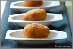 Croquetas de Merluza y Ajos fritos con un Toque de Guindilla