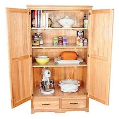 Armoire Pantry Cabinet With Armoires On Pinterest Kitchen Armoire, Kitchen  Storage And Old Tv With