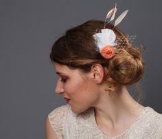 Finest+one+Zarter+Haarschmuck+peach+hummer+ivory+von+Jazzafine+auf+DaWanda.com