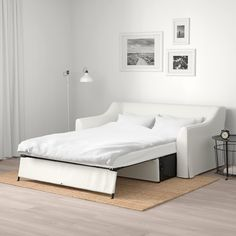 IKEA - FÄRLÖV Cover for sleeper sofa Djuparp yellow-beige Canapé Convertible Ikea, Canapé Convertible Design, Mattress Covers, Bed Mattress, Mattress Protector, Duvet Covers, Sofa Cama Ikea, Bed Ikea, Sofa Bed Frame