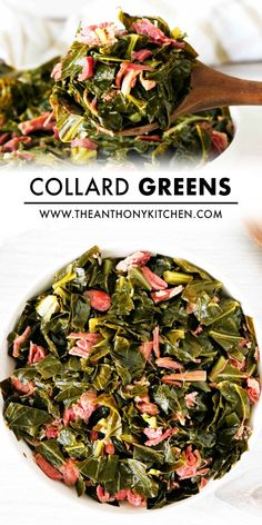 How to cook the best Southern Collard Greens with a simple mix of spices, smoked ham hock, brown sugar, and butter! First, make the broth, then add the greens and slowly simmer until the greens are rich with flavor, buttery soft and silky in texture. The perfect comfort food side dish! Healthy Side Dishes, Vegetable Side Dishes, Vegetable Recipes, Southern Collard Greens, Collard Greens Recipe, Barbecue Side Dishes, Ham Hock, Vegetable Casserole, Smoked Ham