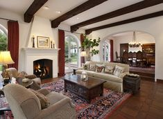 Spanish Colonial - traditional - living room - other metro - D. D. Ford Construction, Inc