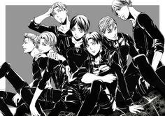 Erwin Smith and his team. Shingeki no Kyojin Attack on Titan