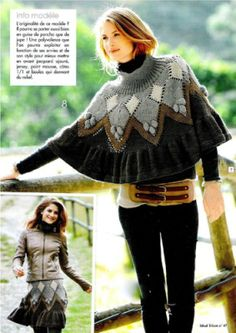 http://2yanakara.blogspot.com/2015/11/knitting-poncho-skirt.html