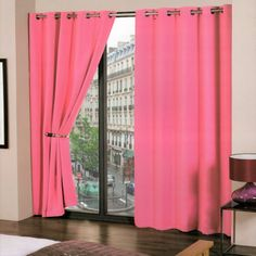 Readymade Curtains | Cali Pink Blackout Eyelet Readymade Curtains