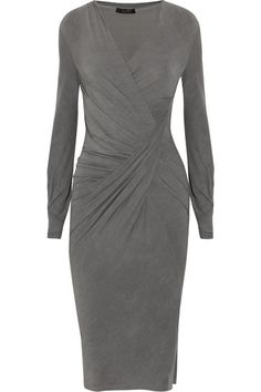 Donna Karan - The type of dress that I love.  Simple, stylish, wrinkle-free and forgiving if I should have a big meal.