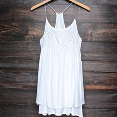 bohemian day dress - white