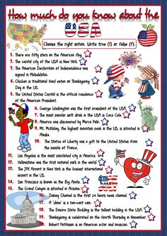 Culture of the United States interactive and downloadable worksheet. You can do the exercises online or download the worksheet as pdf.