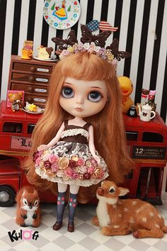 Blythe Secret Garden Collection Flowers dress set