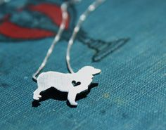I NEED THIS!Australian Shepherd necklace sterling silver by justplainsimple