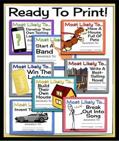 Yearbook awards ideas - Most likely to... - Great Ways to Build ...
