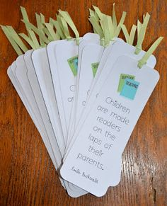 A Place Called Kindergarten: bookmarks for parents