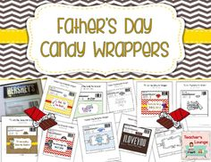 23 Printable wrappers for DAD and GRANDPAJust print and add regular sized (1.55 oz) chocolate bars!Included: 7 Full Color Wrappers for DAD3 Black Line Wrappers for DAD (Color the message2 Black Line Wrappers for DAD(create your own message)6 Full Color Wrappers for GRANDPA3 Black Line Wrappers for DAD (Color the message2 Black Line Wrappers for DAD(create your own message)COPYRIGHT 2016 Teachers LoungeAll rights reserved by Teachers Lounge.