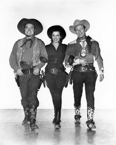 Bob Hope, Jane Russell, Roy Rogers.