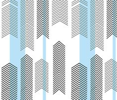 chevron stripe in sky blue fabric by cristinapires on Spoonflower - custom fabric