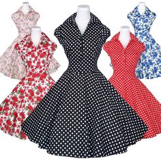 Maggie Tang 50s Polka Dot Retro Vtg Housewife Pinup Rockabilly Swing Dress K 512 | eBay