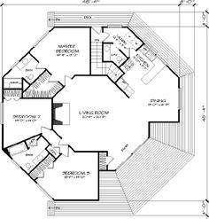 polygon house plans - Google Search