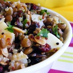 "Cranberry Lentil and Quinoa Salad | ""A very nice salad that tasted better the longer I left it to sit in the fridge. """