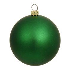 """3"""""""" Green Matte Ball UV Drilled 12/Bag"""