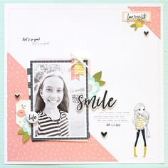 Hi friends! Mandy here with you today to share a layout that I created using the beautiful Caroline kit! Thiskit was perfect for documenting this gorgeous phot