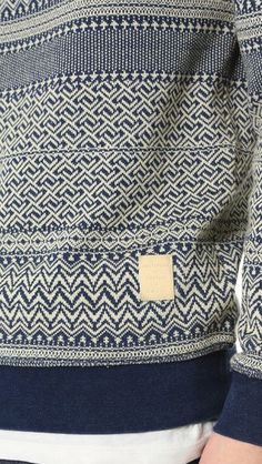 Scotch & Soda Indigo Jacquard Sweater