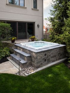 Ground Luxury Hot Tub Install Just because a hot tub is installed above ground, doesn't mean that it has to look cheap!Just because a hot tub is installed above ground, doesn't mean that it has to look cheap! Jacuzzi Pool, Jacuzzi Patio Ideas, Jacuzzi Outdoor Hot Tubs, Inground Hot Tub, Pool Bad, Pool Indoor, Hot Tub Backyard, Hot Tub Garden, Garden Gazebo