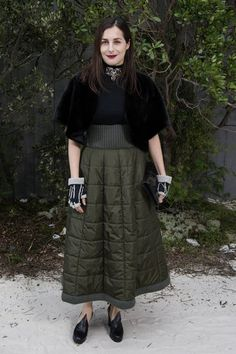 Amira Casar in Chanel PF13 skirt at S13 HC show