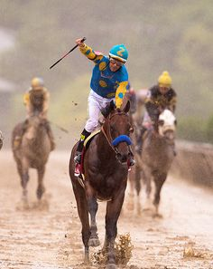 Triple Crown Winner. .American Pharaoh .For the third time in four years, Belmont Park hosted a Triple Crown hopeful when American Pharoah attempted to add the 147th running of the Grade 1, $1.5 million Belmont Stakes on Saturday, June 6, the final and most demanding leg of the series, to his victories in the Kentucky Derby and in the rain-drenched Preakness. It marked the 14th time since Affirmed swept all three races in 1978 that a horse has had a chance to join the 11 Triple Crown…