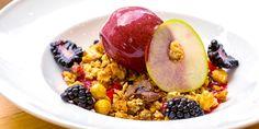 Anna Hansen re-imagines an apple and blackberry crumble recipe in this stunning dessert.