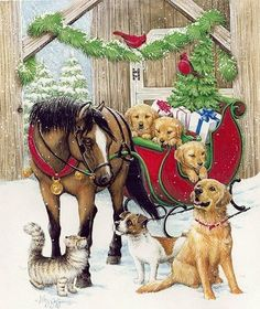 animals christmas <3