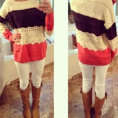 Pull Over Knit in Coral from Monica's Closet Essentials