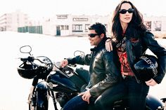 JR Delia Studios : Client: Viva International Group USA / Harley Davidson, Creative Direction: Barbara Griffin, Production: Joanne Paolucci, Styling: Joanne Paolucci, Models: Damon & Genevieve / Images NYC