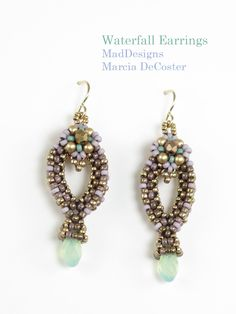 It& easy, really easy for me to get a bit discouraged about design productivity. Now that I am booking less engagements there are fewer de. Big Earrings, Cluster Earrings, Seed Bead Earrings, Beaded Earrings, Beaded Jewelry, Handmade Jewelry, Drop Earrings, Seed Beads, Right Angle Weave