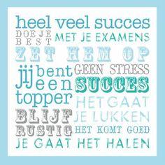 Succes Tekst Examen Blauw - Coachingskaarten - Kaartje2go