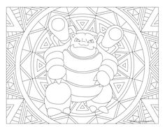 Free printable Pokemon coloring page-Blastoise. Visit our page for more coloring! Coloring fun for all ages, adults and children. Pokemon Blastoise, Pokemon Charmeleon, Pokemon Craft, Pikachu, Pokemon Party, Papercraft Pokemon, Coloring Book Pages, Coloring Pages For Kids