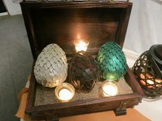 We should have dragon eggs.... make pinatas and the kiddos can have one each!
