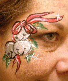Christmas Bell Design  Linda Schrenk/Amazing Face Painting by Linda, Jacksonville FL