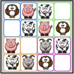 Sudoku GS - plusieurs niveaux de difficultés (plastifier, scratch...) Home Made Games, Connect Online, Math Strategies, Number Games, Home Activities, Puzzles For Kids, Numeracy, Early Learning, Farm Animals