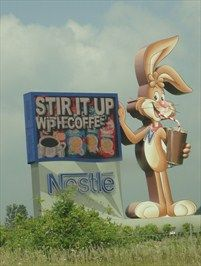 Nestle' sign in Anderson, Indiana