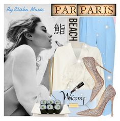 """""""I'll Do My {Very} Best in Paris :)(:"""" by liliemc ❤ liked on Polyvore featuring Emilia Wickstead, STELLA McCARTNEY, Gorgeous Cosmetics, Jimmy Choo, Fitz and Floyd, Jura, Mepra and HomArt"""