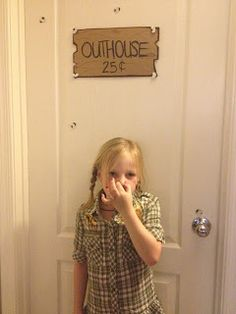 If you have a private bathroom in your camping theme classroom, I love the idea of adding decor to the door as well! Label it the outhouse! Students would learn more vocabulary AND get a good laugh. (I don't think I'd add a price though. When you gotta go, you gotta go!)