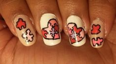 Valentine's Day Special: Puzzled Hearts Nails (+playlist)