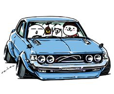 "car illustration ""crazy car art"" jdm japanese old school ""DARUMA CELICA"" original characters ""mame mame rock"" / © ozizo ""ROCK'N ROLL"" Line theme ""Crazy Car Art"" Line themes ""Crazy Car Art"" Line stickers ""Crazy car Art"" Telegram stickers"