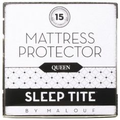 #3: SLEEP TITE by Malouf Mattress Protector - 100% Waterproof-Eliminates Dust Mites -15 Year Warranty