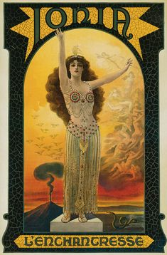 Ionia was one of the few female-magician headliners, and she often represented herself with mythical symbols.