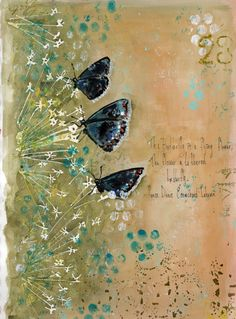 Butterflies are flying flowers - journal page