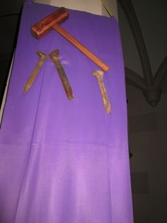 Lent Church Decorations | Can you tell how each one is a symbol for Lent?